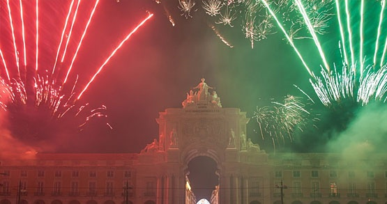 New year's eve in Lisboa, Portugal