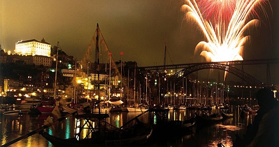 New Year's eve in Porto, Portugal